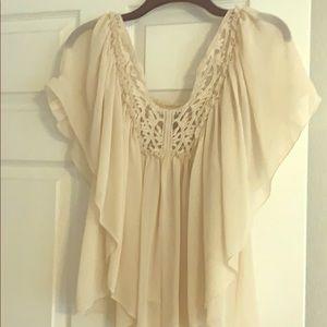 Gorgeous chiffon flowy Victoria secret blouse